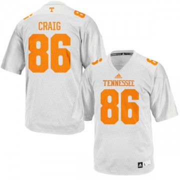 Men's Andrew Craig Tennessee Volunteers Authentic White adidas Football Jersey -