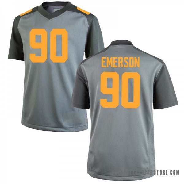 Men's Greg Emerson Tennessee Volunteers Nike Game Gray College Jersey