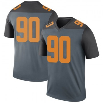 Men's Greg Emerson Tennessee Volunteers Nike Legend Gray College Jersey