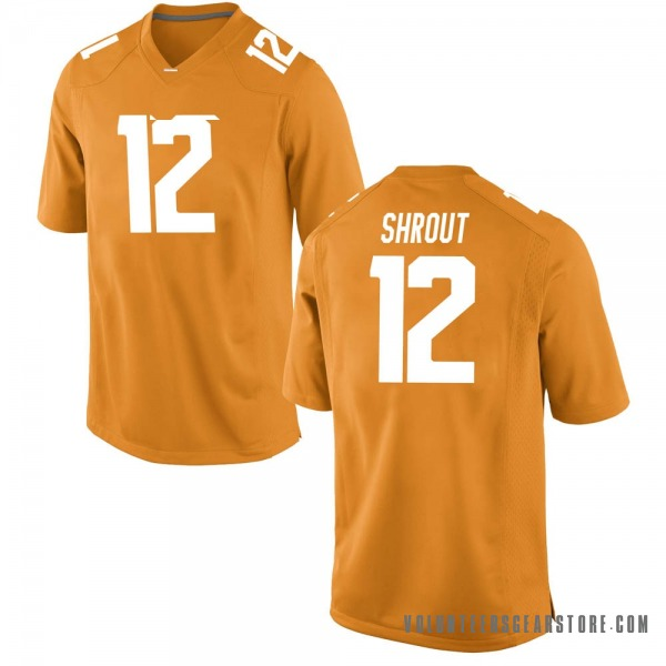 Men's JT Shrout Tennessee Volunteers Nike Game Orange College Jersey