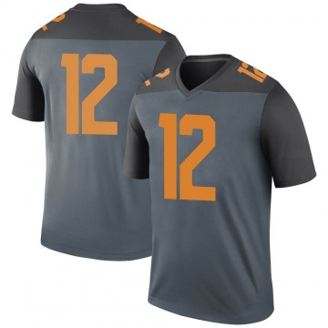 Men's JT Shrout Tennessee Volunteers Nike Legend Gray College Jersey