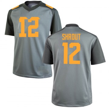 Men's JT Shrout Tennessee Volunteers Nike Replica Gray College Jersey