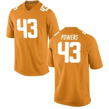 Men's Jake Powers Tennessee Volunteers Nike Replica Orange College Jersey