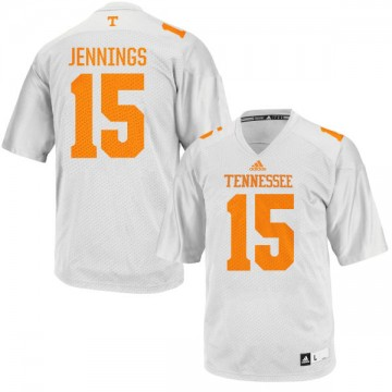 Men's Jauan Jennings Tennessee Volunteers Game White adidas Football Jersey -