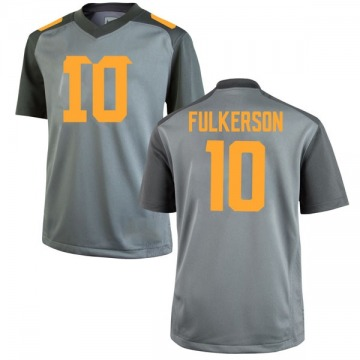 Men's John Fulkerson Tennessee Volunteers Nike Game Gray College Jersey