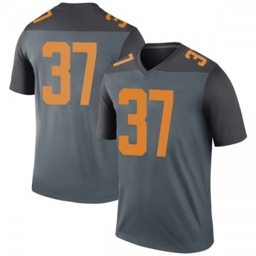 Men's Paxton Brooks Tennessee Volunteers Nike Legend Gray College Jersey