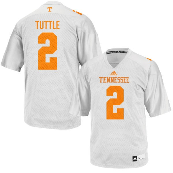 Men's Shy Tuttle Tennessee Volunteers Game White adidas Football Jersey -