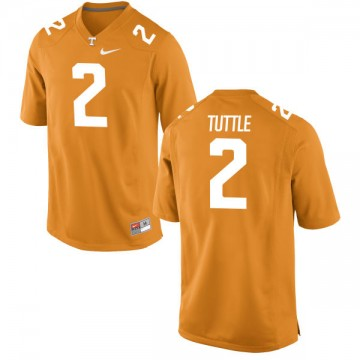 Men's Shy Tuttle Tennessee Volunteers Nike Replica Orange Jersey -