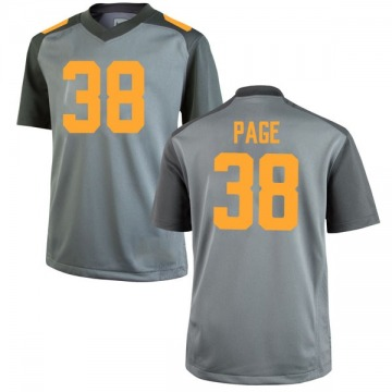Men's Solon Page III Tennessee Volunteers Nike Game Gray College Jersey