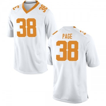 Men's Solon Page III Tennessee Volunteers Nike Game White College Jersey