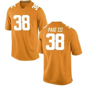 Men's Solon Page III Tennessee Volunteers Nike Replica Orange College Jersey