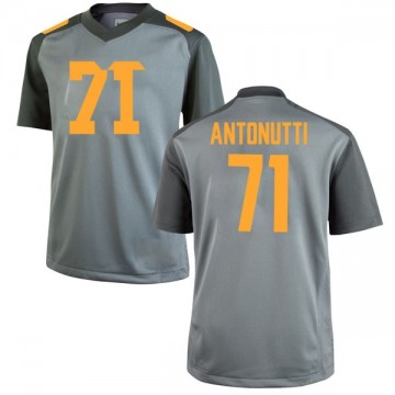 Men's Tanner Antonutti Tennessee Volunteers Nike Game Gray College Jersey