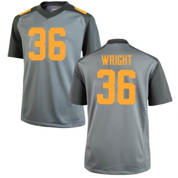 Men's William Wright Tennessee Volunteers Game Gray College Jersey