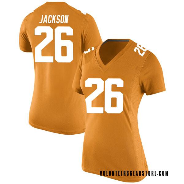 Women's Theo Jackson Tennessee Volunteers Nike Replica Orange College Jersey