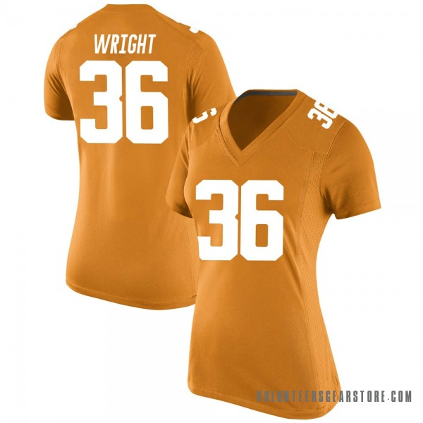 Women's William Wright Tennessee Volunteers Nike Game Orange College Jersey