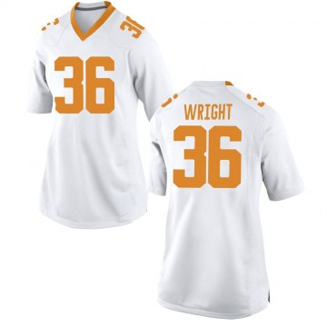 Women's William Wright Tennessee Volunteers Nike Game White College Jersey