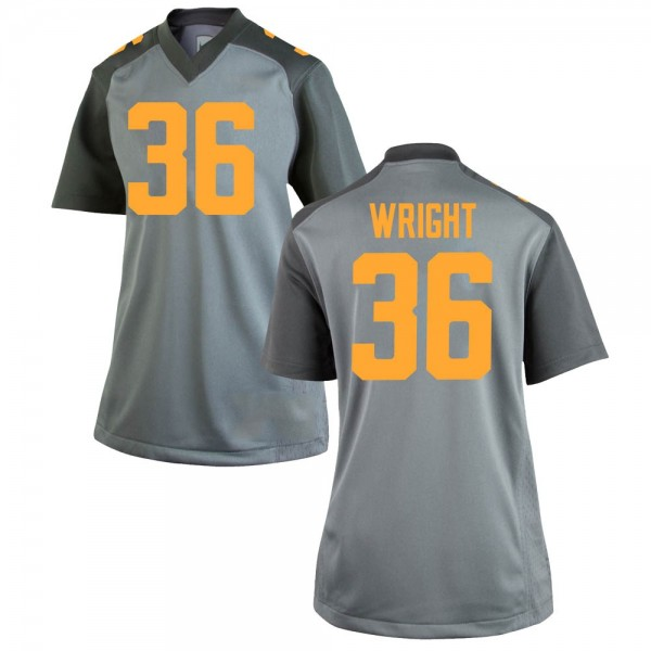 Women's William Wright Tennessee Volunteers Nike Replica Gray College Jersey