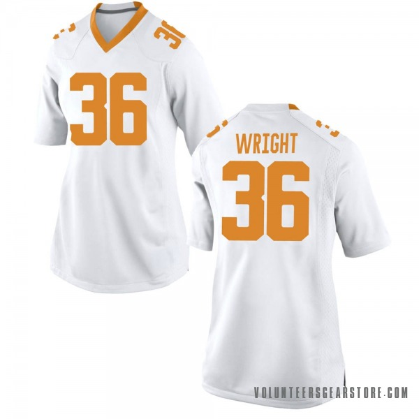 Women's William Wright Tennessee Volunteers Nike Replica White College Jersey