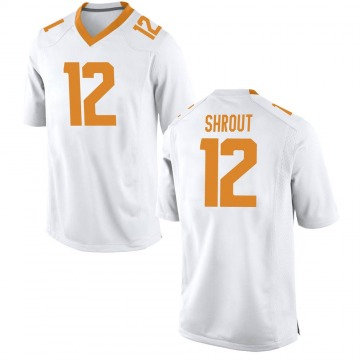 Youth JT Shrout Tennessee Volunteers Nike Replica White College Jersey