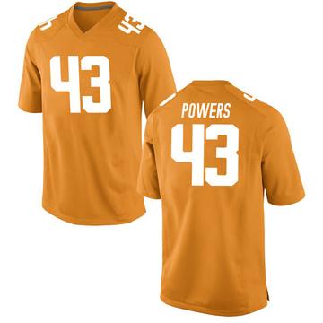 Youth Jake Powers Tennessee Volunteers Nike Game Orange College Jersey