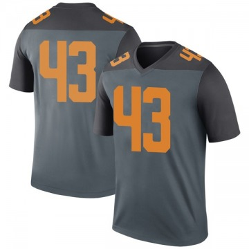 Youth Jake Powers Tennessee Volunteers Nike Legend Gray College Jersey