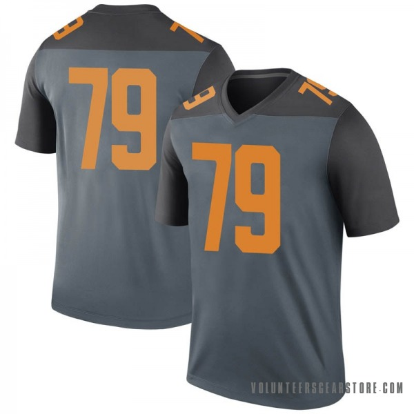 Youth Jarious Abercrombie Tennessee Volunteers Nike Legend Gray College Jersey