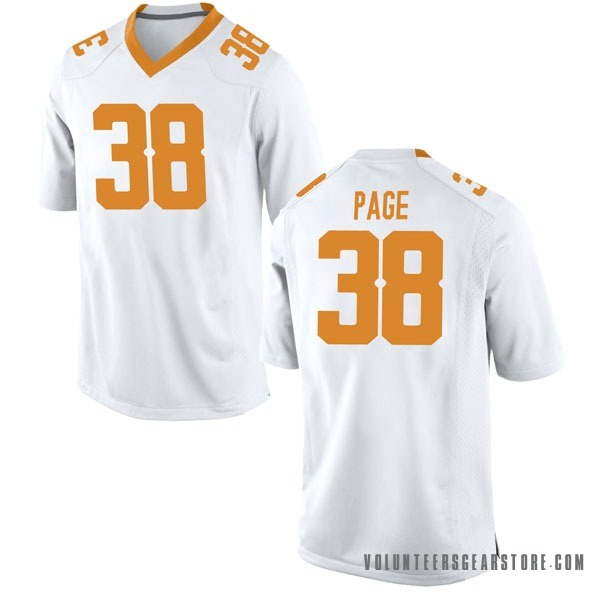 Youth Solon Page III Tennessee Volunteers Nike Game White College Jersey